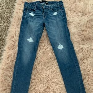 Dark Denim Skinny Ankle Jeans